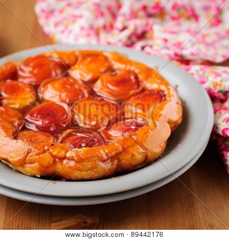 Peach And Thyme Tart Tatin
