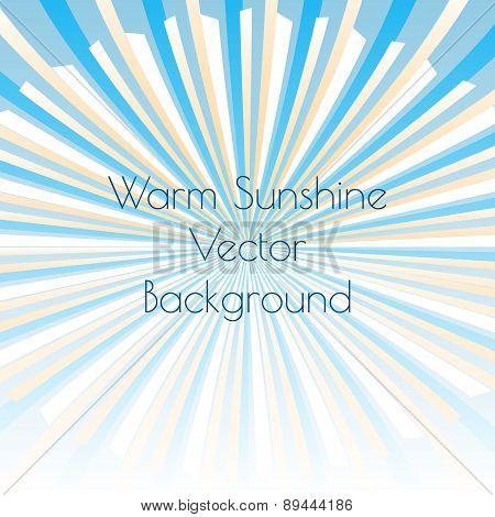 Warm sunshine rays