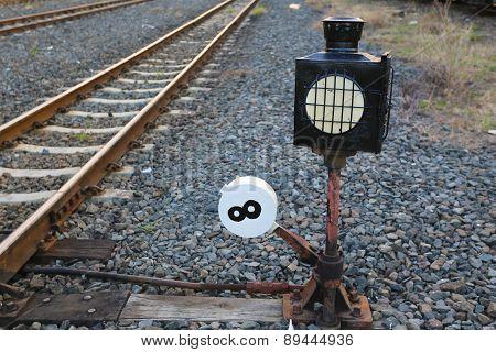 Straight Railroad Track.