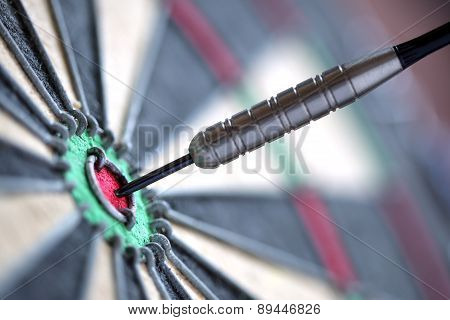 A closeup of a perfect bulls-eye