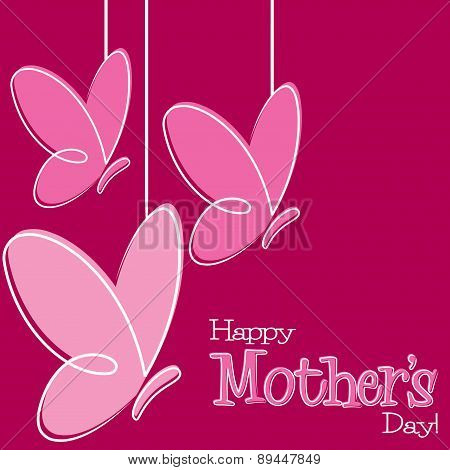 Hand Drawn Happy Mother's Day Card In Vector Format.