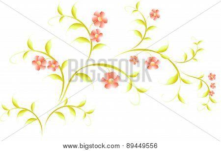 Pattern in the form of sakura branch. EPS10 vector illustration