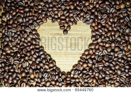 Sign Of The Heart , Collected From Coffee Beans