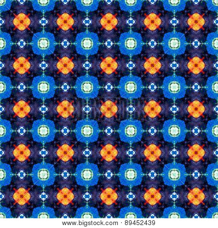 Abstract Blue Orange Dotted Texture Or Background Made Seamless
