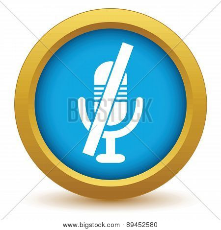 Crossed microphone icon