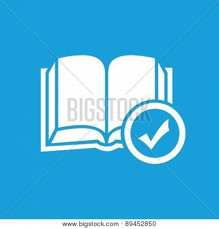 Selected book symbol