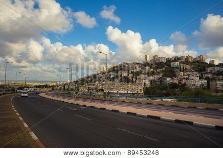 Landscape of the Haifa city