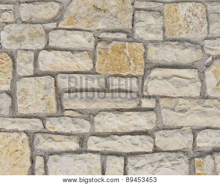 random cut stone wall closeup