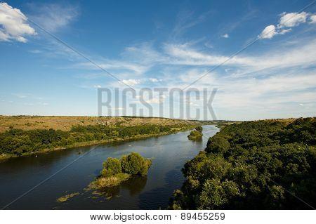 Ukrainian Riverside Landscape