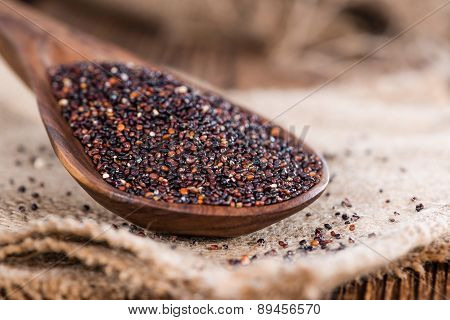 Portion Of Uncooked Black Quinoa
