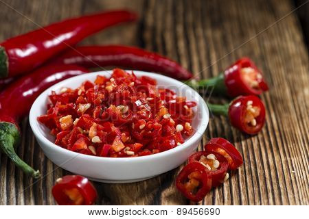 Cutted Red Chilis