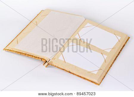 old photo album isolated on white background