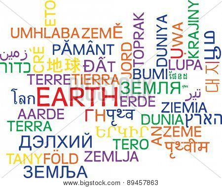 Background concept wordcloud multilanguage international many language illustration of earth