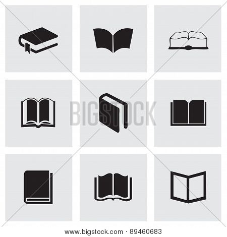 Vector schoolbook icons set