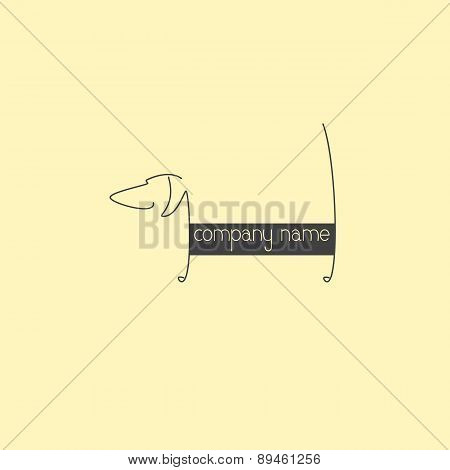 Dachshund Logo Template