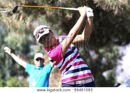 Lydia Ko at the ANA inspiration golf tournament 2015