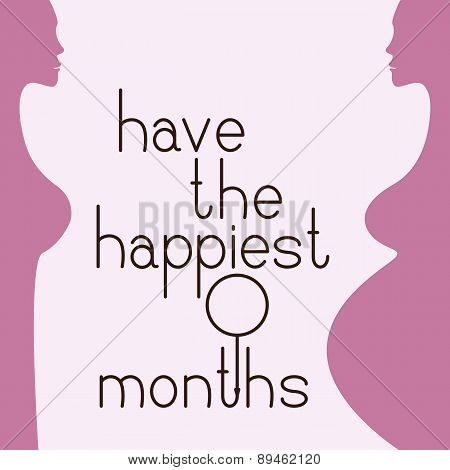 9 Months Greeting Card