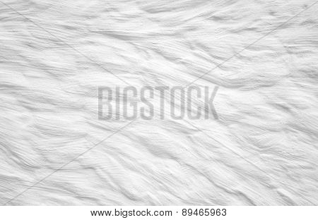 White Wall With Plaster Abstract