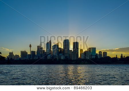 Sydney, Australia - May 6, 2015: The Sydney Cbd