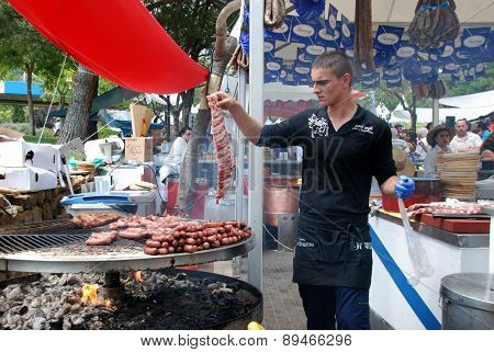 Barbecue chef, Marbella.