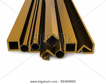 Metallurgical materials on a white background