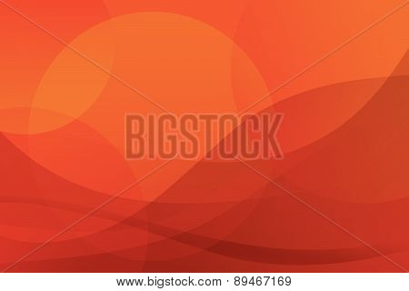 Vector Abstract Red-yellow Background. Sun