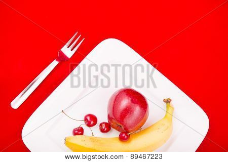 Plate With Fruit