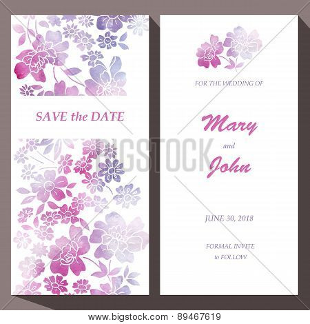Vector card template for Save The Date, baby shower, mothers day