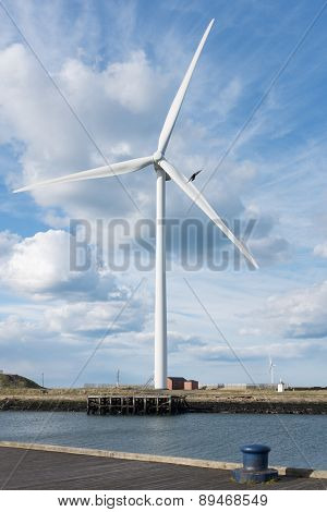 Editorial: Wind Turbine In Cambois, Northumberland. Taken 27 April 2015