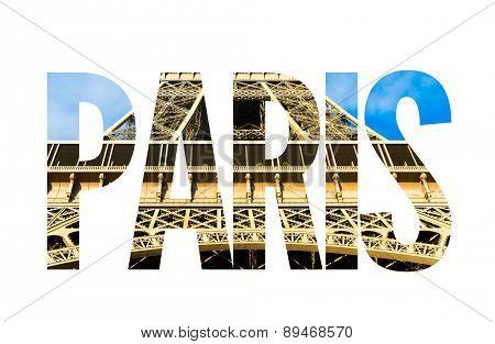 Paris text on white background