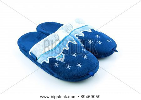 Blue Soft Slippers