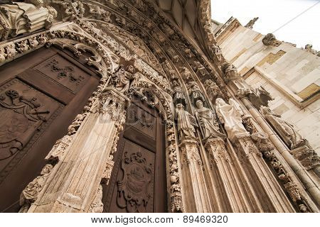 Detail Of The Cathedral Of Regensburg