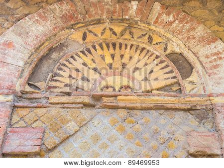 Details In The Old Town Of Ostia, Rome, Italy