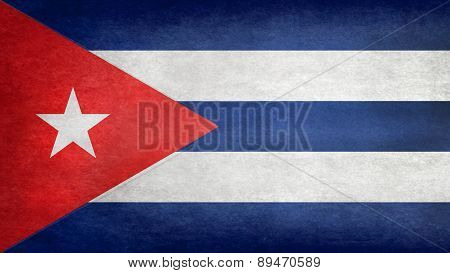 National flag Of Cuba, retro style version