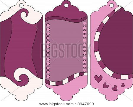 beautiful tag collection with hearts