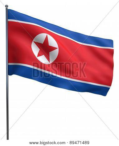 North Korea Flag Image