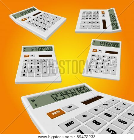 Calculator on an orange background
