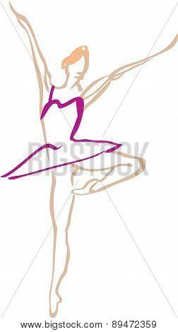 Ballerina in a pink tutu.