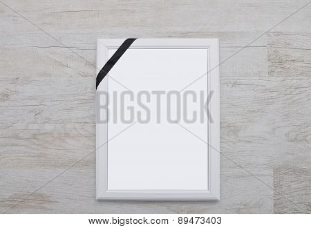 Picture Frame With Mourning Band