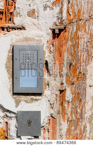 intercom broken , a symbol of security, private property, renovation, insulation