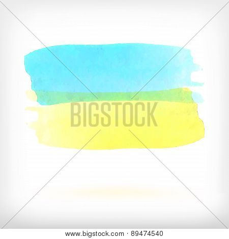 Abstract watercolor brush vector design elements.