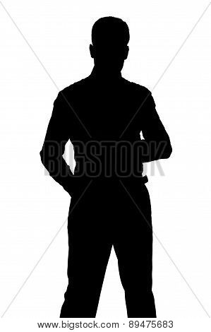 Silhouette Of Standing Man