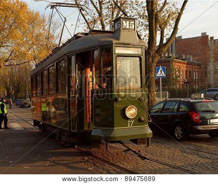 Retro tram from Lodz.