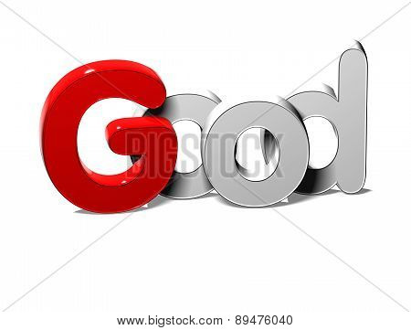 3D Silver Word Good On White Background