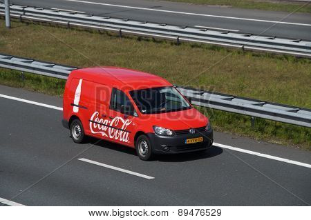 Coca-Cola Delivery Truck on a Dutch highway