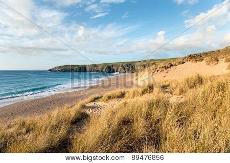 Sand Dunes At Holywell Bay