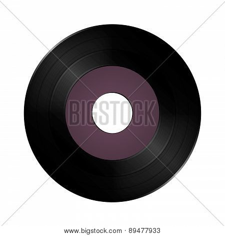 Single vinyl record disc.