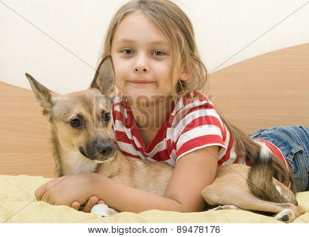 Child With A Red Puppy