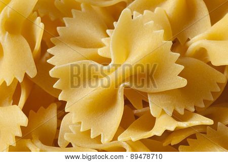 Traditional Italian farfalle close up full frame
