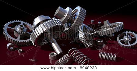 gear wheel and spring